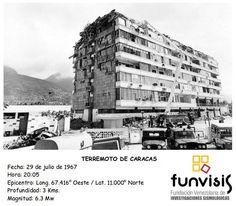 #ImagenFunvisis Terremoto de Caracas: 29 de julio de 1967 (Mag. 6.3 Mw). #SismicidadHistórica #Venezuela #Sismo
