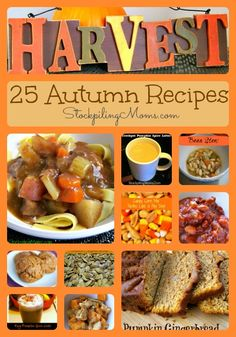 25 Autumn Recipes Collage Our favorite recipes for fall! A must pin!