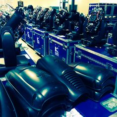 Cleaning up #varilite moving lights between events during award-show season. #movinglights