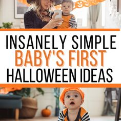 Baby's First Halloween tips and ideas to make the holiday special! Baby's first Halloween costumes, tips for trick or treating, baby's first Halloween photo ideas, and much more! #halloween #baby #babysfirsthalloween #babyhalloweenbooks #holidays #fall