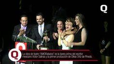 """En esta ocasión, el elenco de la obra """"AMORatados"""", ópera prima del escritor mexicano Víctor Salinas y el primer proyecto como productora de Olivia Ortíz de Pinedo, reciben el premio Q a la excelencia por su impulso y aporte al teatro mexicano"""