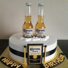 Birthday Cupcakes For Boyfriend Father Ideas 40th Birthday Cakes For Men, Man Birthday, Birthday Cupcakes, Birthday Ideas, Birthday Cake For Husband, Surprise Birthday, Birthday Wishes, Corona Cake, Corona Beer