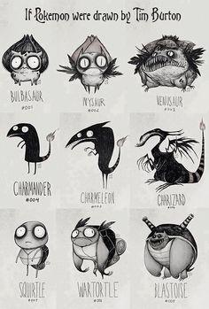 Pokemon Tim Burton styler!