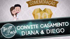 Convite Personalizado Casamento (Personagem) - Diana e Diego