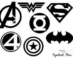 Batman, Super hero SVG, PNG Cut Files for use with Silhouette Studio, Cricut… Silhouette Files, Silhouette Design, Silhouette Studio, Logo Super Heros, Superhero Symbols, Avengers Symbols, Machine Silhouette Portrait, Cricut Vinyl, Vinyl Decals