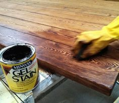 How To Paint Furniture | Staining and Finishing Tabletops | Ana White - Homemaker