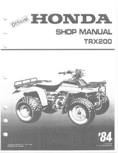 2004 2006 honda trx 350 rancher te tm fe fm atv service rep honda rh pinterest com repair manual honda rancher 420 at 2009 repair manual honda rancher trx420 free