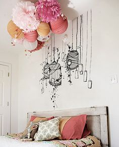 those lanterns and dat headboard tho