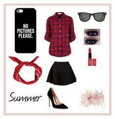 American Style by peleisgod on Polyvore featuring мода, Neil Barrett, Gianvito Rossi, Casetify, Ray-Ban and Untold