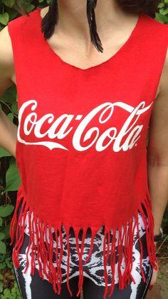 Vintage Coca Cola Fringe Crop Top Size Small- $36.00
