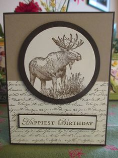 Stampin Up Walk in the Wild. Script stamp from Michaels and Apothecary Stampin Up set.  2017 (Richard)