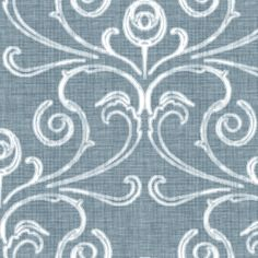 Faded French Rose - Blue fabric by kristopherk on Spoonflower - custom fabric