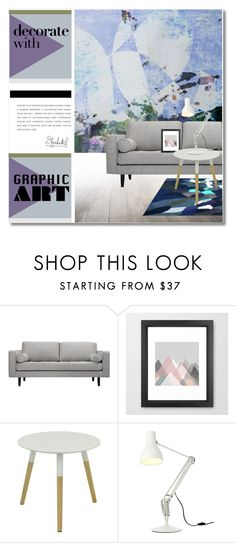 """Decorate With Graphic Art"" by svijetlana ❤ liked on Polyvore featuring interior, interiors, interior design, home, home decor, interior decorating, Volo Design, Three Hands, Anglepoise and polyvoreeditorial"