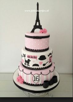 Paris theme bday cake.