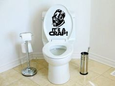 Vinyl Wall Decal/Sticker Description: Star Wars Inspired Its A Crap Toilet Decal Admiral Ackbar Its a Trap Measurements:7w x 10h Black is