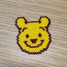 Winnie the Pooh - peyote bead pin