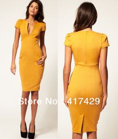 Aliexpress New Elegant Las V Neck Fashion Pencil Dress Design Office