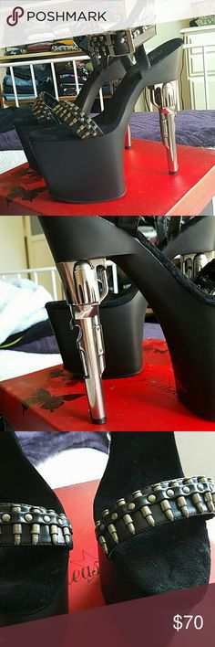 Pleaser Gun Platform Heels Brand New with box and shoe bag. Bought for a few photoshoots but never worn other than that. Pleaser Shoes Platforms