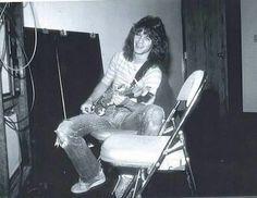 Eddie Van Halen with a nice smile