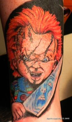 Childs play tattoos childs play chucky tattoo chucky for Bride of chucky tattoo