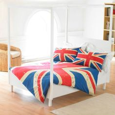 King Bed Union Jack Duvet Bedding Set - Includes Two Pillowcases Vintage British