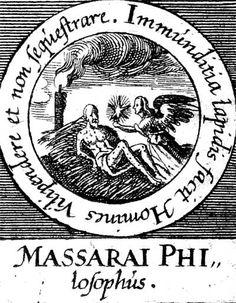 ALQUIMIA VERDADERA: Emblema 28. El filósofo de Massara La suciedad de la piedra hace que los hombres la tengan en poca estima y no la separen.