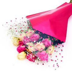 Printed Cellophane Flower Sleeves / BOPP CPP Flower Plastic Sleeves for Floral Packing