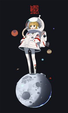 new era + NASA collaboration Female Character Design, Character Design Inspiration, Character Concept, Character Art, Concept Art, Astronaut Illustration, Character Illustration, Illustration Art, Anime Kunst