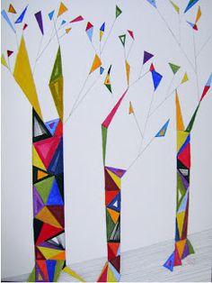 ARTES, DESARTES E DESASTRES CONTEMPORÂNEOS.: Maio de 2011 Árvores na passarela Técn. mista: acrílica, hidrocor e nanquim sobre papel