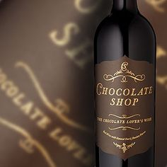"""Chocolate Shop, the ultimate """"Chocolate Lover's Wine"""" is a deep, ruby red wine blended with rich, velvety chocolate."""