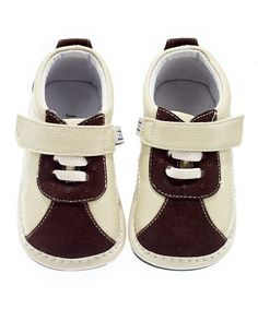 Another great find on #zulily! Cream & Brown Sneaker by Jack & Lily #zulilyfinds