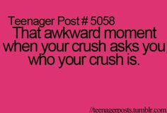 This happened and my crush doesn'tknow its them.