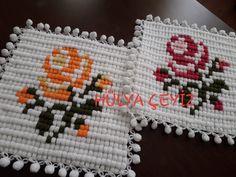 Çeyizlik Lif Modelleri - Acemi Gelin Crochet Potholder Patterns, C2c Crochet, Baby Knitting Patterns, Hand Knitting, Peacock Crochet, Knitted Baby Clothes, Odd Molly, Acrylic Nail Designs, Pot Holders