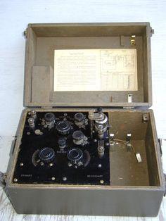 BC-14A, Crystal radio, General Radio, Signal Corps, US Army 1918.