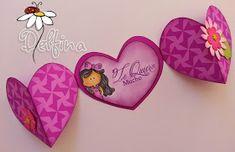 Garabatta-tarjeta-SanValentin6-DelfinaMoretta Card Tags, Gift Tags, Mother's Day Diy, Explosion Box, Tag Design, Creative Cards, Flower Crafts, Paper Piecing, Origami