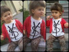 #ysl #kids #fashion #baby #sweet #red #leopard #smile