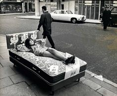 """isabelcostasixties: """" Cathy McGowan Collection of Teenage beds designed by Cathy McGowan in 1967. Photo by Tony Gale """""""