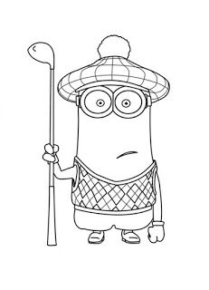 High Quality Despicable Me   Minion Golfer Coloring Page