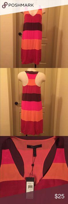 BCBGMAXAZRIA Silk Dress BCBGMAXAZRIA 100% silk, with polyester lining. Gorgeous color blocking. New with tags. BCBGMaxAzria Dresses