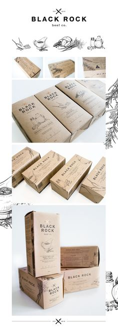 Black Rock Beef co. || Packaging Design on Behance