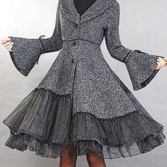 Adorable black and grey coat