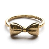 Gold Bow Ring <3