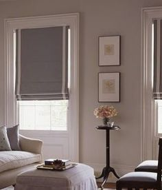 Roman blinds example