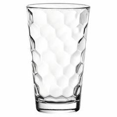 """Showcasing a beveled honeycomb texture, this modern highball glass is ideal for serving fresh-squeezed juice or a crisp cocktail.    Product: Set of 6 glasses Construction Material: GlassColor: ClearFeatures:  Honey CollectionHighball glasses12 Ounce capacity Dimensions: 5.5"""" H x 3.38"""" DiameterCleaning and Care: Dishwasher safe"""