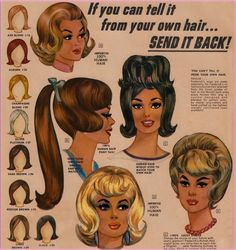 "Fredericks of Hollywood   wigs and ""wiglets"" advertisement 1954"