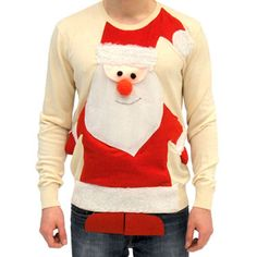 How much do you love Santa Claus? Well, look no further than this incredibly ugly Christmas sweater!
