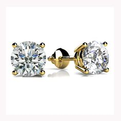 Purchase 2 Ct Round Cut Natural Diamond Martini Style Stud Earrings In White Gold Carat ,F-G VS) from JewelryHub on OpenSky. Share and compare all Jewelry. Diamond Stone, Round Cut Diamond, Round Diamonds, Buy Diamonds, Diamond Solitaire Earrings, Diamond Jewelry, Diamond Necklaces, Silver Bracelets, Gold Jewelry