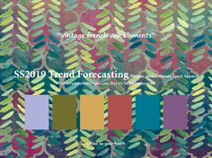 SpringSummer2019 Trend Forecasting for Women, Men, Intimate, Sport Apparel - Vintage french oak elements    www.JudithNg.com