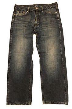 HUGO BOSS Black Label Straight Leg Jeans Size 36W x 29L