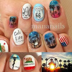 "Beauty Blog — Mananails on Instagram: ""California"""
